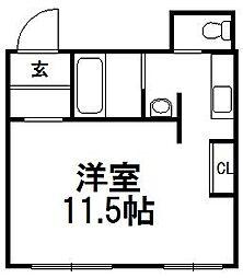 シークエンス620[B1b号室]の間取り