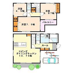 [一戸建] 東京都稲城市大丸 の賃貸【/】の間取り