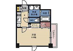 おおさか東線 JR野江駅 徒歩4分の賃貸マンション 4階1Kの間取り