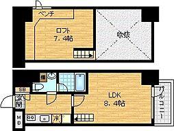 リセス大阪イースト[8階]の間取り
