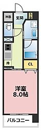 プリムール[4階]の間取り