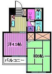 クリーンハイツ南浦和[2階]の間取り