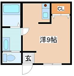 アクティー神戸[314号室]の間取り