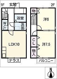 [タウンハウス] 愛知県春日井市小野町5丁目 の賃貸【/】の間取り