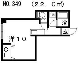 GS阿倍野[402号室号室]の間取り