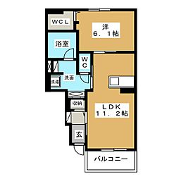 レジデンス西富士宮[1階]の間取り