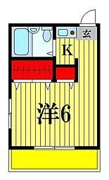 ジュネパレス松戸第79[3階]の間取り