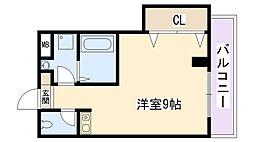 兵庫県西宮市愛宕山の賃貸マンションの間取り
