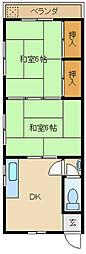[一戸建] 兵庫県尼崎市大庄中通5丁目 の賃貸【兵庫県 / 尼崎市】の間取り