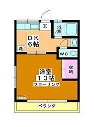 コーポ町田[203号室]の間取り