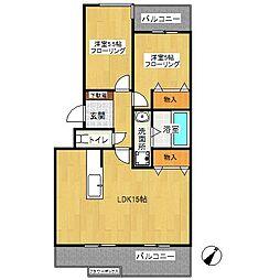 名瀬東ハイツ[1階]の間取り