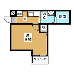 アークリード京都千本[3階]の間取り
