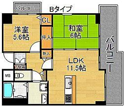 メゾンキコー住之江[6階]の間取り