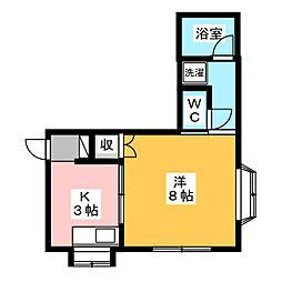 壹番館[1階]の間取り