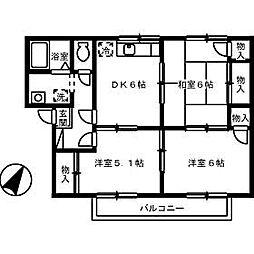 プレジール品川 A棟[202号室]の間取り