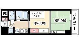 プログレンス栄 3階1Kの間取り