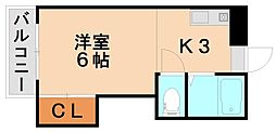 パシフィック白木原[3階]の間取り