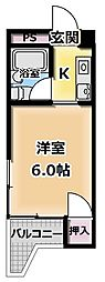 バードヒル古川橋[1階]の間取り