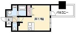 ADVANCE NAGOYA MOXIE 2階ワンルームの間取り