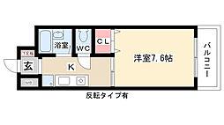 愛知県長久手市長配3丁目の賃貸マンションの間取り