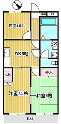 シャルム成城南[4階]の間取り