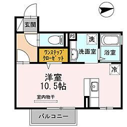 D-roomフィット 2階ワンルームの間取り