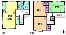 [一戸建] 奈良県奈良市秋篠町 の賃貸【/】の間取り