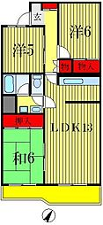リバブル松戸[2階]の間取り