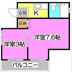 新藤マンション[2階]の間取り