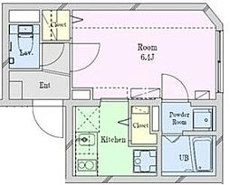 Reguno・vent(レグノ・ヴェント) 2階1Kの間取り