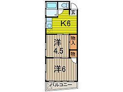 松川マンション[202号室]の間取り