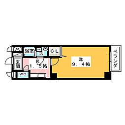 愛知県名古屋市天白区古川町の賃貸マンションの間取り