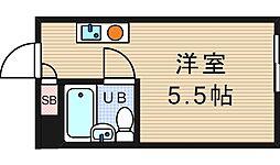 堀江グリーンハイツ[3階]の間取り