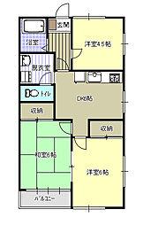 コーポすぎB棟[2階]の間取り