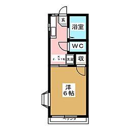 カーサヒロ[2階]の間取り