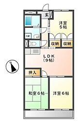 グランホワイエシャトレ B棟[3階]の間取り