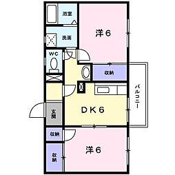 エクレール平沢I[103号室]の間取り