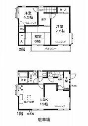 [一戸建] 神奈川県座間市相模が丘3丁目 の賃貸【/】の間取り