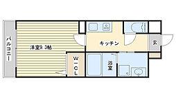 カルザ姫路[607号室]の間取り