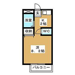 ベルシンフォニーC棟[1階]の間取り