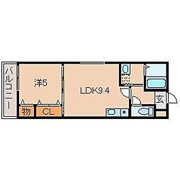 フジパレス黒田VI番館[1階]の間取り