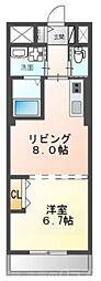 仮)友岡2丁目新築マンション 2階1LDKの間取り