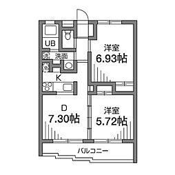 ラ・ファミーユ弐番館[3階]の間取り