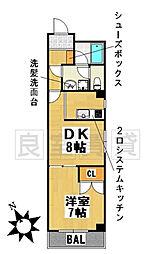 愛知県名古屋市千種区西崎町1丁目の賃貸マンションの間取り