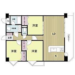 フォレステージュ夙川[0403号室]の間取り