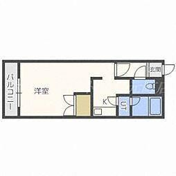北海道札幌市東区北二十四条東18の賃貸マンションの間取り
