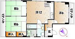 ハイツ赤坂[2階]の間取り