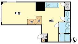 相生ビル(3階)[3F号室]の間取り