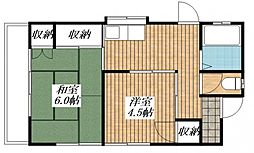 [一戸建] 東京都昭島市緑町1丁目 の賃貸【/】の間取り