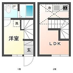Gojo Apartment[8号室]の間取り